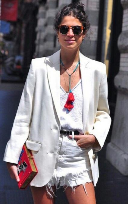 Outfit en blanco.