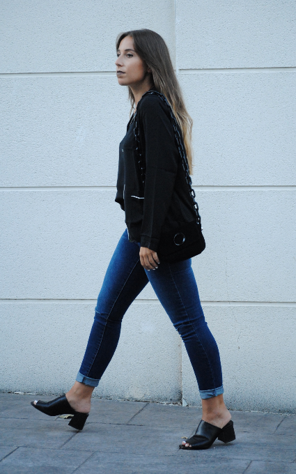 Black and denim