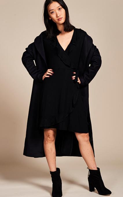 Black total coat