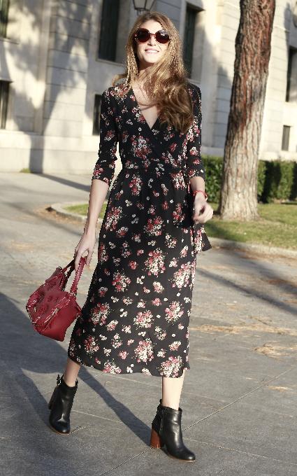 Vestido de flores largo