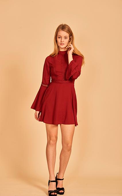 Burgundi dress