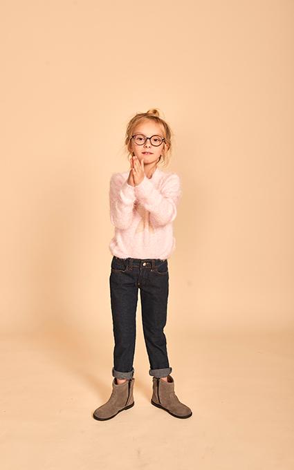Jersey rosa y gafas