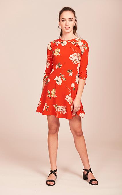 Vestido flower red
