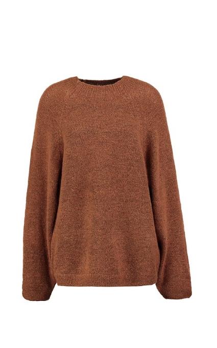 Jersey marrón brillo