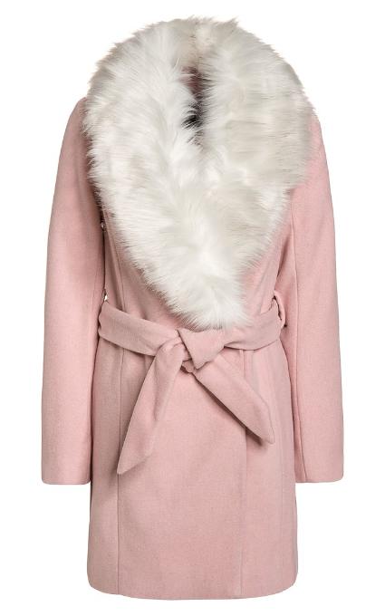 Abrigo mid pink