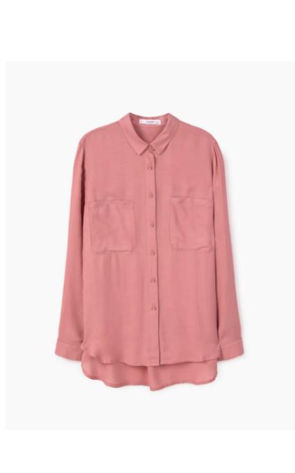 Camisa bolsillos rosa