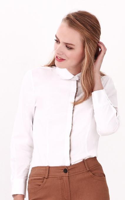 Camisa manga larga white
