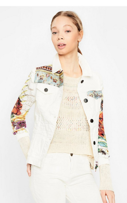Chaqueta exotic white