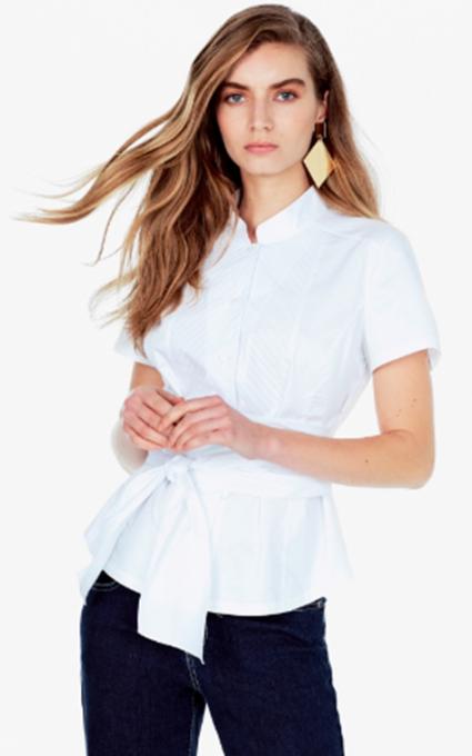 Camisa blanca lazo