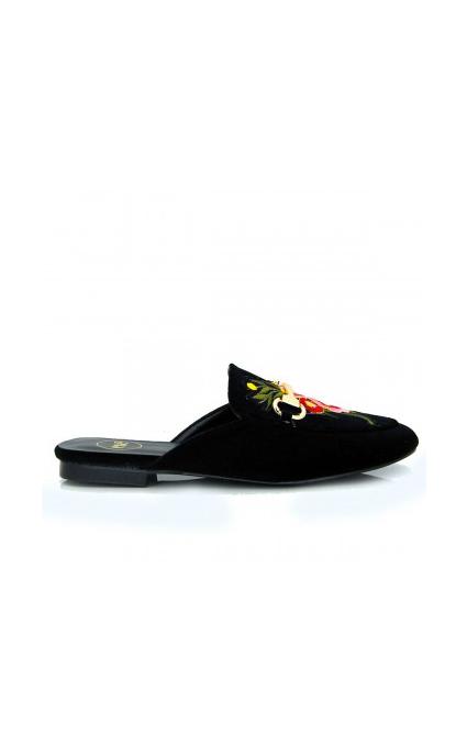 Zapato mule flor