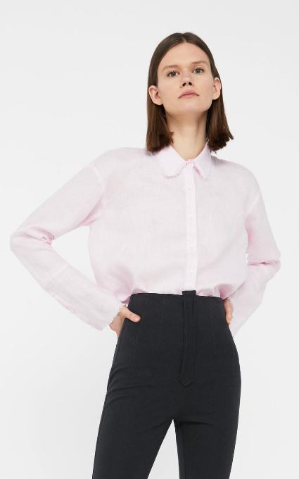 Camisa lino deshilachada