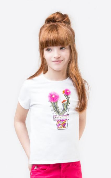 Camiseta cactus blanco