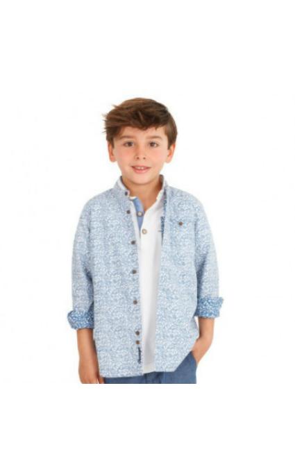 Camisa azul bolsillo