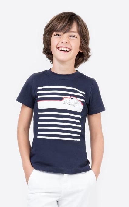 Camiseta rayas marino