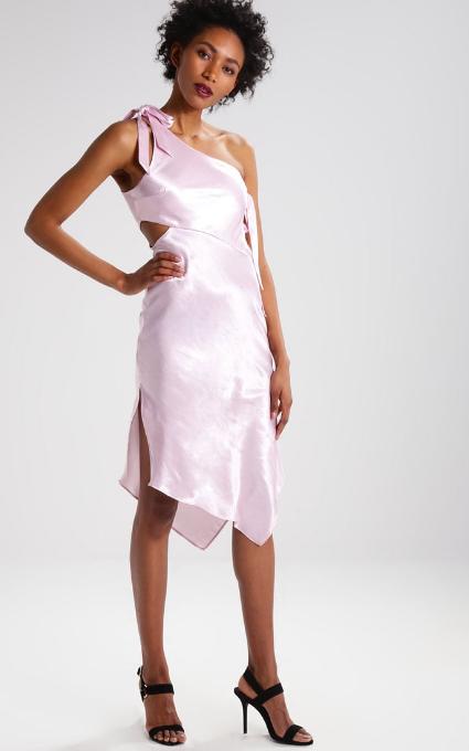 Vestido asimétrico lila