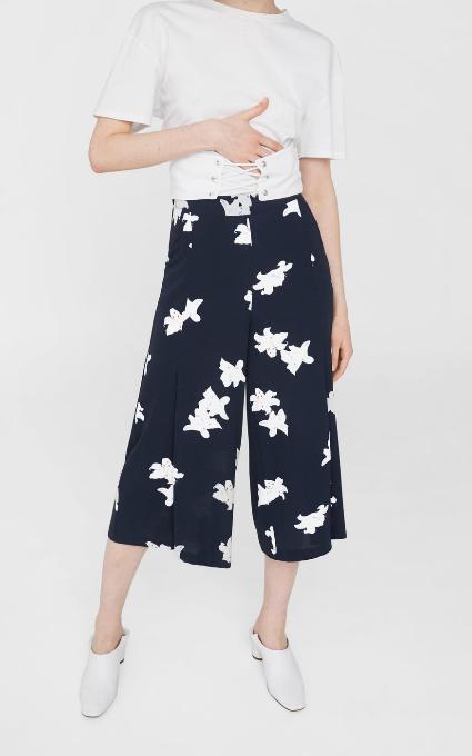 Pantalon fluido print