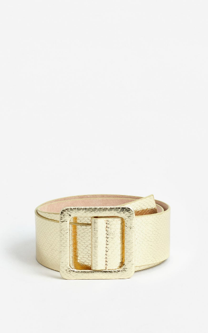 Cinturón textura metalizado