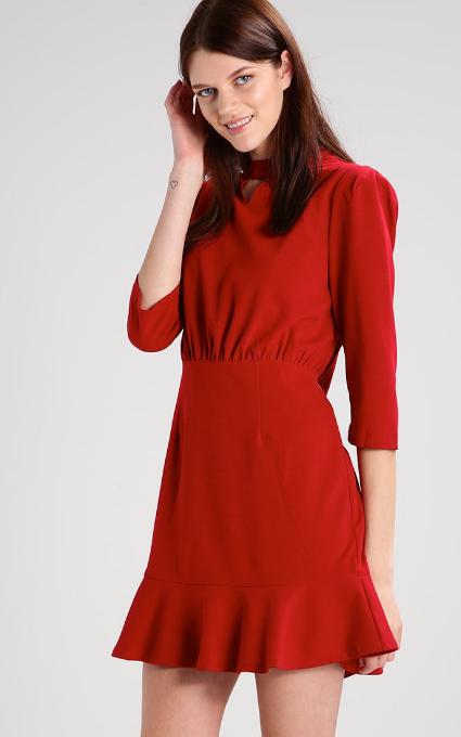 Vestido mini rojo