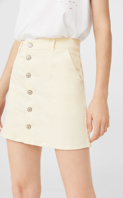 Mini falda amarilla