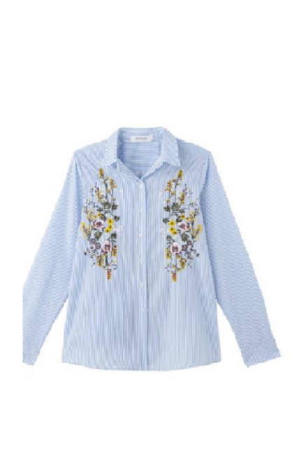 Camisa bordada rayas