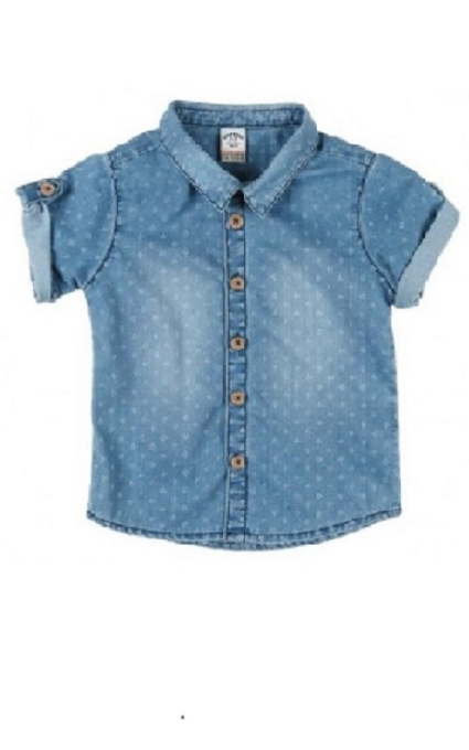 Camisa denim estampada