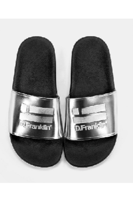 Sandalias plata caucho