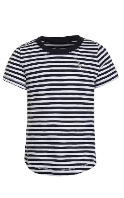 Camiseta blanca y navy