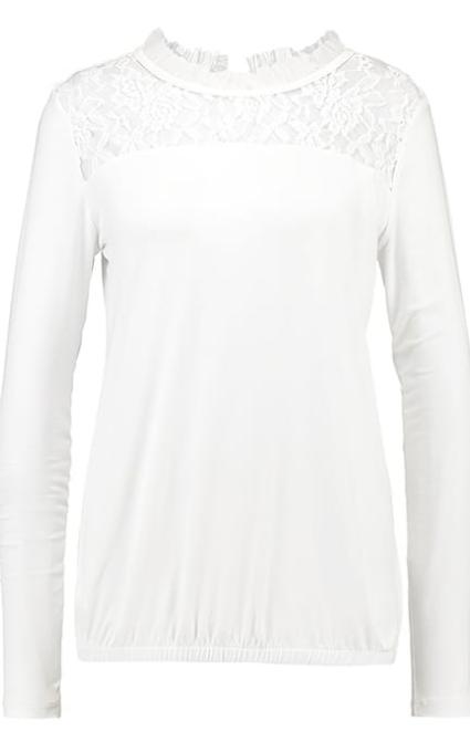 Camisa encaje blanco