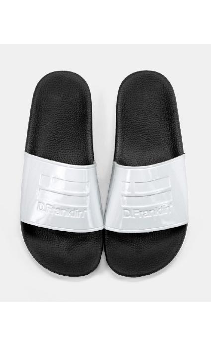 Sandalias slide blanco