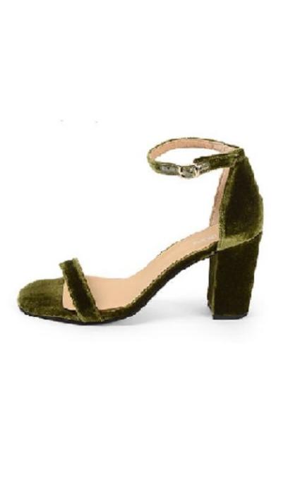 Sandalias terciopelo verde