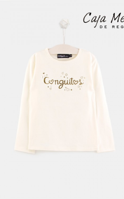 Camiseta beige logo