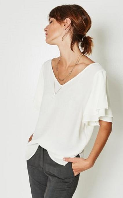 Camiseta de crepé