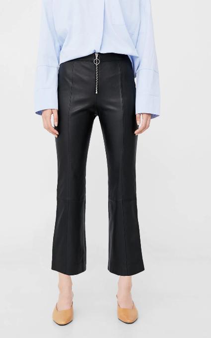 Pantalón crop piel