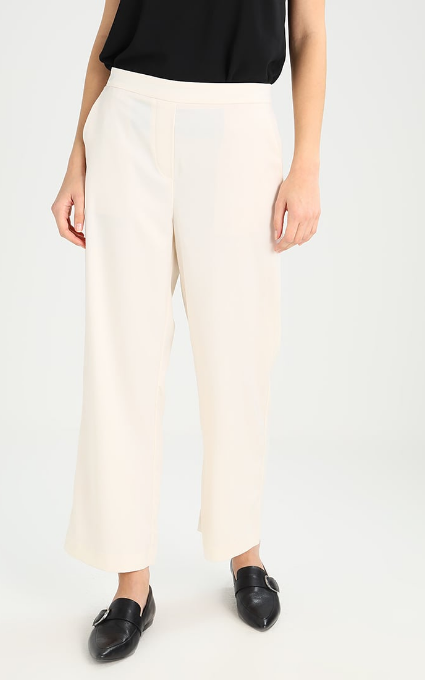 Pantalón raso beige