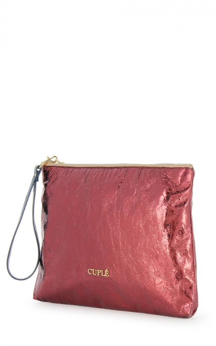 Cartera metal fucsia