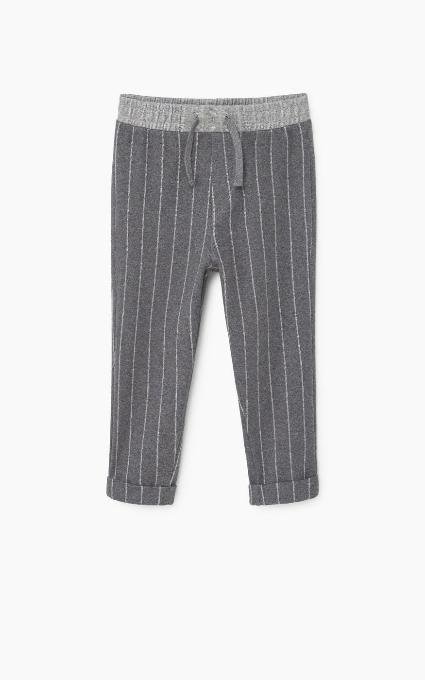 Pantalón rayas algodón
