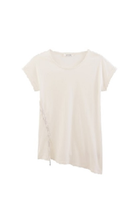 Camiseta asimétrica blanca