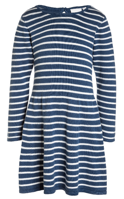 Vestido rayas algodón