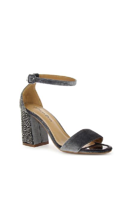 Sandalia terciopelo gris
