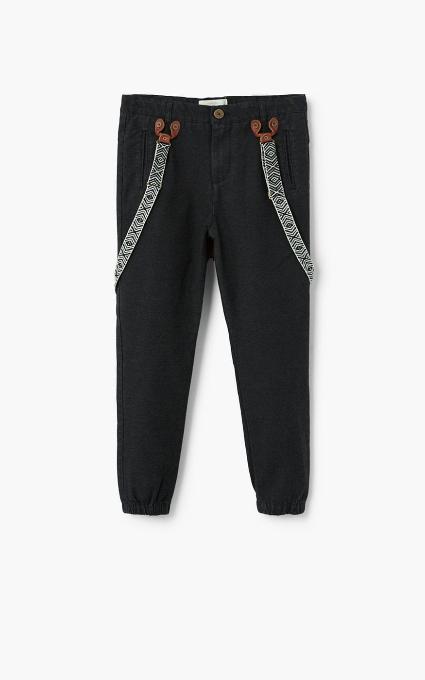 Pantalón algodón tirantes