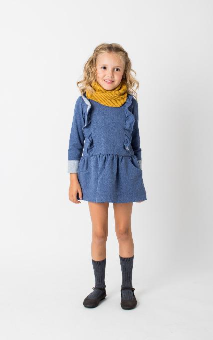 Vestido azul algodón