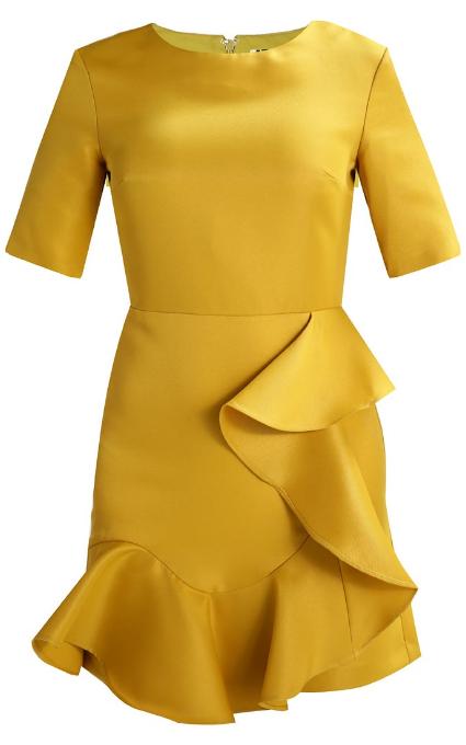 Vestido volante amarillo