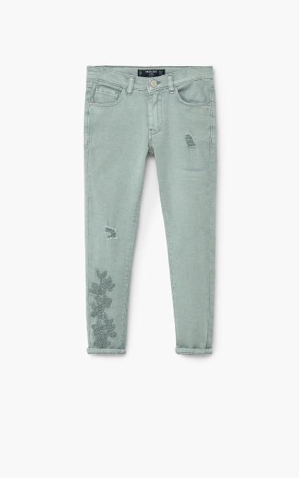Jeans skinny bordado