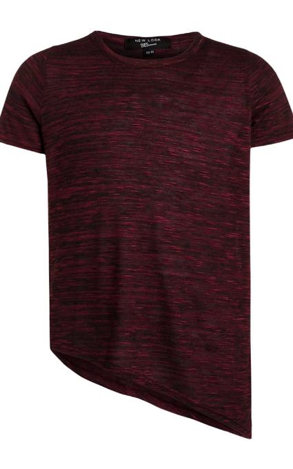 Camiseta burgundy desigual