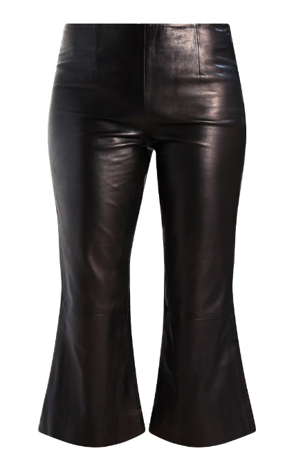 Pantalones midi cuero