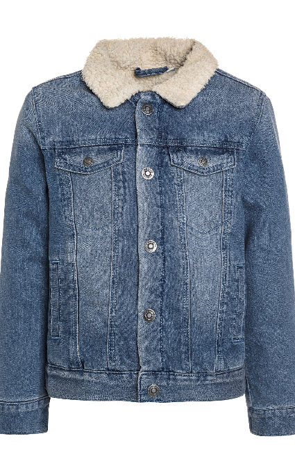 Chaqueta denim borrego