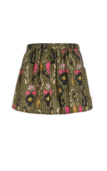 Minifalda étnica.