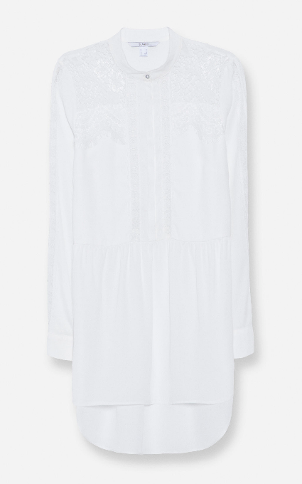 Camisa encaje larga