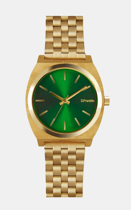 Reloj Unico Gold Green
